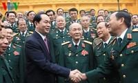 Chủ tịch nước Trần Đại Quang gặp mặt các thế hệ cán bộ Cục tác chiến, Bộ Tổng tham mưu