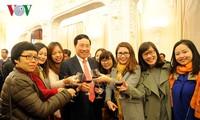Phó Thủ tướng, Bộ trưởng Ngoại giao Phạm Bình Minh gặp mặt các cơ quan báo chí VN nhân dịp năm mới