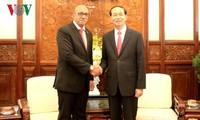Chủ tịch nước Trần Đại Quang tiếp Đại sứ Cuba nhân kết thúc nhiệm kỳ công tác