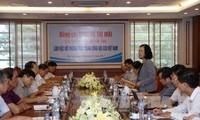 Trưởng ban Dân vận Trung ương Trương Thị Mai làm việc với Hội Cựu chiến binh