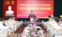 Chủ tịch Quốc hội Nguyễn Thị Kim Ngân làm việc với Kiểm toán nhà nước