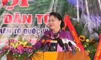 Chủ tịch Quốc hội Nguyễn Thị Kim Ngân dự Ngày hội đại đoàn kết toàn dân tộc tại tỉnh Hòa Bình