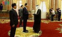 Chủ tịch nước Trần Đại Quang tiếp các Đại sứ trình Quốc thư