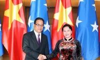 Chủ tịch Quốc hội Nguyễn Thị Kim Ngân đón, hội đàm với Chủ tịch Quốc hội Liên bang Micronesia Wesley