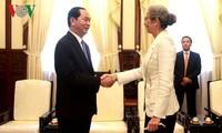 President Tran Dai Quang received Dutch, Arzerbaijan ambassadors