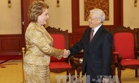Party leader receives Chairwoman of Russia's Federal Council