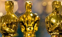 The golden Oscar statuette