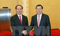 President Tran Dai Quang meets Chinese leaders
