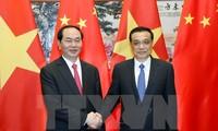 President Tran Dai Quang meets Chinese Premier Li Keqiang