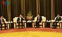 President Tran Dai Quang receives leaders of China's Fujian province