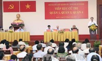President meets Ho Chi Minh City voters