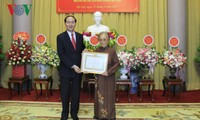 Former Vice President honored with 70-year Party Membership Medal