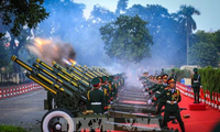 21-gun salute welcoming ceremony for Chinese top leader