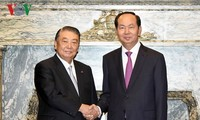 President calls for further legislative exchanges with Japan