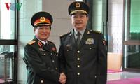 越中两国防长在中国举行会谈