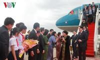 阮氏金银抵达金边开始对柬埔寨进行正式友好访问