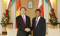 陈大光同马达加斯加总统埃里举行会谈