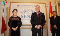 阮氏金银与捷克参议院主席米兰·什捷赫举行会谈