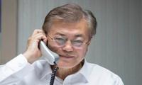 美国总统特朗普希望与韩国合作解决朝核问题