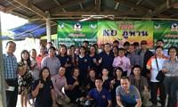 คณะผู้สื่อข่าวสถานีวิทยุเวียดนามลงพื้นที่ร่วมทำข่าวการเเก้ปัญหาภัยเเล้งที่ประเทศไทย