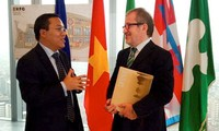 Establecerán Cámara Comercial de Vietnam en Italia