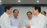 Presidente vietnamita se reúne con empresarios extranjeros en Binh Duong