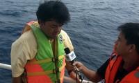 Reporteros extranjeros comprueban la realidad en el Mar Oriental