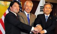 Estados Unidos, Japón y Corea del Sur discuten tema de Corea del Norte