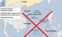 China busca encubrir deliberadamente sus actos violatorios en el Mar Oriental