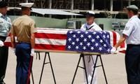 Repatriación de restos de soldados estadounidenses