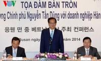 Intensas actividades del primer ministro Nguyen Tan Dung en Corea del Sur