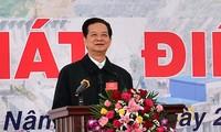 Se pone en marcha el primer grupo de turbinas de dela central hidroeléctrica de Lai Chau