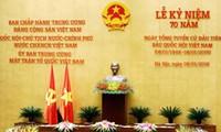 Conmemoración oficial de los 70 años de las Primeras Elecciones Parlamentarias en Vietnam