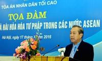 Hacia un sistema judicial armónico entre los países de ASEAN