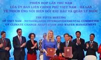Efectúan Vietnam y Holanda reunión sobre cambio climático y gestión hídrica