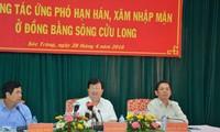 Provincias deltaicas de Mekong responden activamente a la sequía y salinización del suelo
