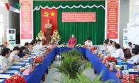 Presidenta del Parlamento de Vietnam supervisa preparativos electorales en Hau Giang