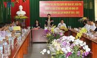 Líder parlamentaria supervisa labores pre electorales en An Giang