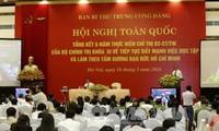Verifican el estudio y seguimiento del ejemplo moral del presidente Ho Chi Minh