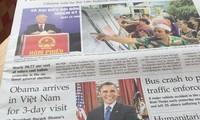 Visita del presidente Obama a Vietnam atrae atención de medios de comunicación internacionales