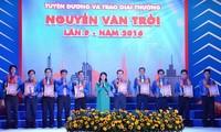 Reconocen en Ciudad Ho Chi Minh a jóvenes con el premio Nguyen Van Troi