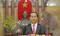 Mensaje de felicitación del presidente de Vietnam en ocasión del Año Nuevo Lunar 2017