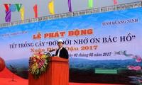 Presidente vietnamita lanza Festival de Siembra de Árboles 2017