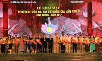 "Inauguran II Festival del arte tradicional ""Don ca tai tu"" en provincia survietnamita"