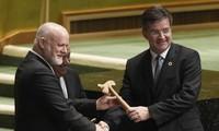Miroslav Lajcak presta juramento como nuevo presidente de Asamblea General de ONU