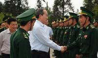 Deputy PM Nguyen Thien Nhan melakukan temu kerja dengan pimpinan propinsi Lai Chau