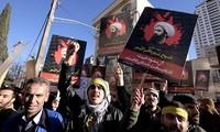 Demonstrasi di Iran untuk menentang Arab Saudi  mengeksekusi ulama Islam