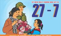 Aktivitas-aktivitas balas budi kepada para prajurit disabilitas dan martir Vietnam.