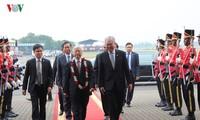 Sekjen KS PKV Nguyen Phu Trong memulai kunjungan resmi di Indonesia