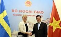 Vietnam dan Swedia mendorong penggalangan hubungan kemitraan Strategis Instansi